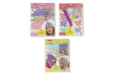reasonable Melissa & Doug Simply Crafty Activity Kits Set: Terrific Tiaras, Marvelous Masks, Whimsical Wands (Makes 4 of Each) cheap competitive