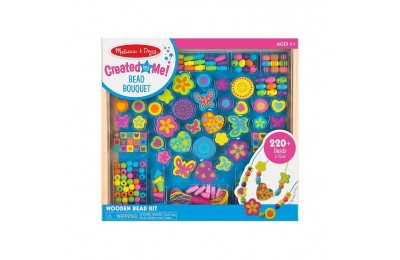 competitive Melissa & Doug Bead Bouquet Deluxe Wooden Bead Set With 220+ Beads for Jewelry-Making cheap reasonable