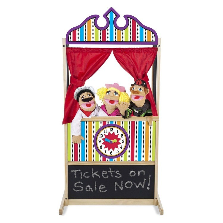 competitive Melissa & Doug Deluxe Puppet Theater - Sturdy Wooden Construction cheap reasonable