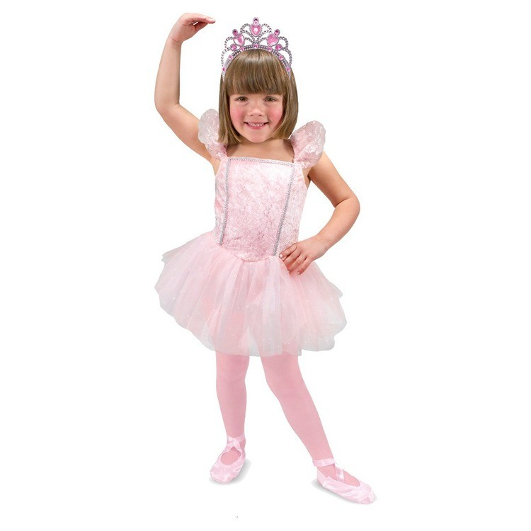 reasonable Melissa & Doug Ballerina Role Play Costume Set (4pc) - Includes Ballet Slippers, Tutu, Women's, Size: Small, Pink cheap competitive