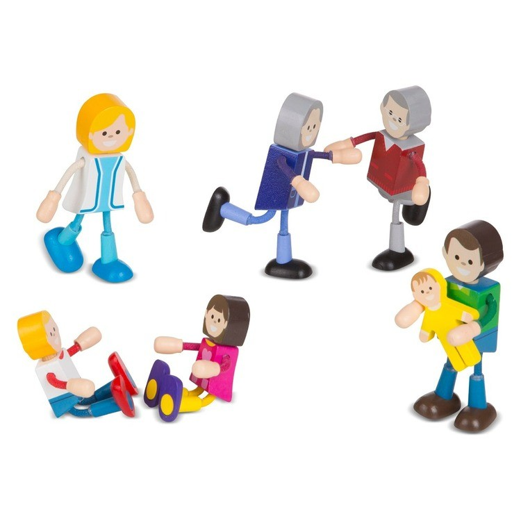 cheap Melissa & Doug Wooden Flexible Figures - Family competitive reasonable