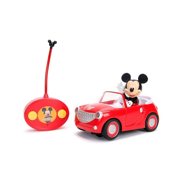 """reasonable Jada Toys Disney Junior RC Mickey Mouse Club House Roadster Remote Control Vehicle 7"""" Glossy Red cheap competitive"""