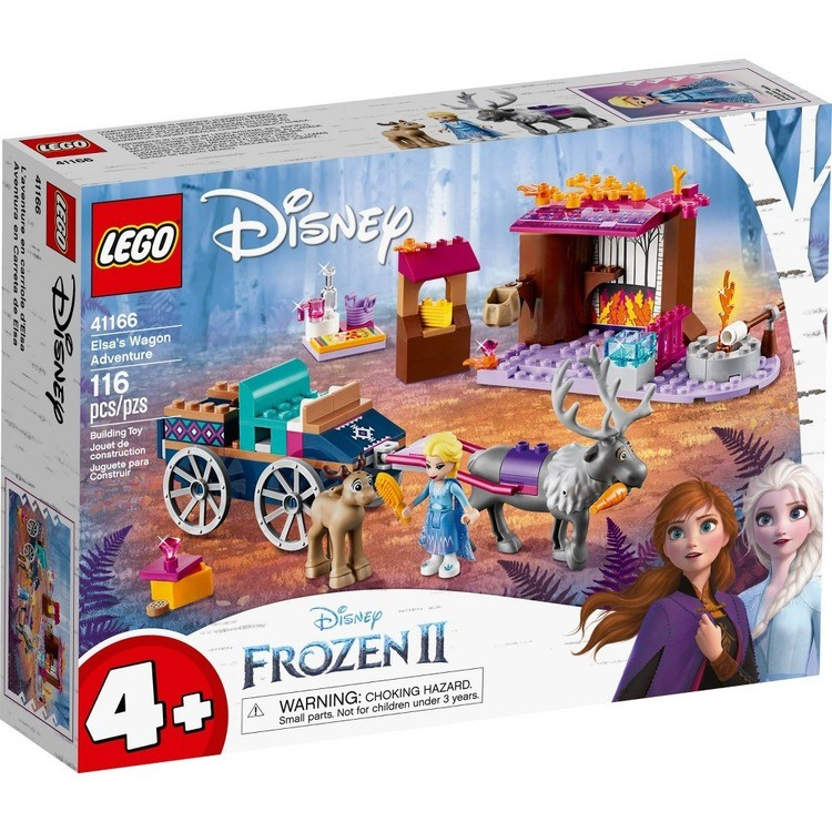 reasonable LEGO Disney Frozen II Elsa's Wagon Carriage Adventure Building Kit and Elsa Doll 41166 competitive cheap