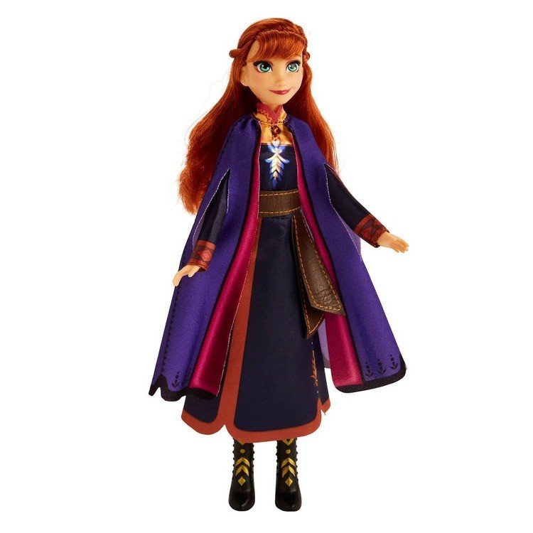 competitive Disney Frozen 2 Singing Anna Fashion Doll with Music Wearing a Purple Dress reasonable cheap