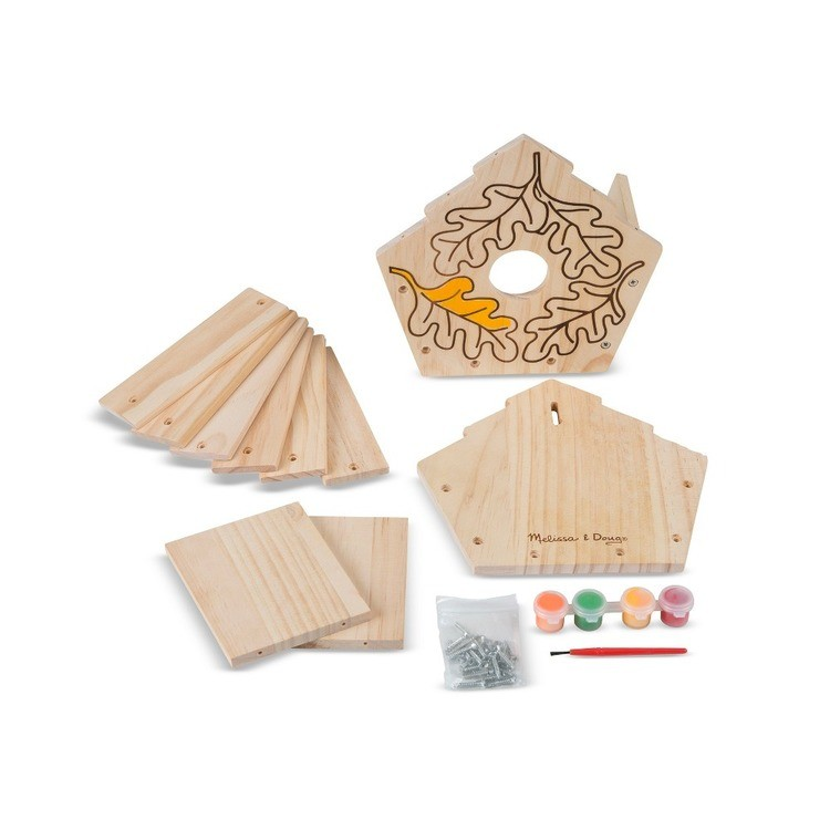 cheap Melissa & Doug Build-Your-Own Wooden Birdhouse Craft Kit competitive reasonable