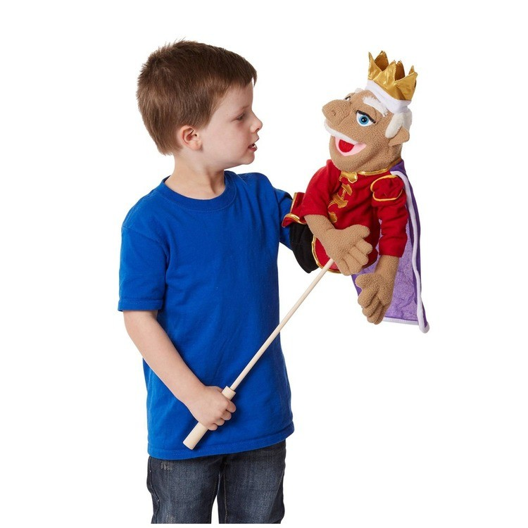 competitive Melissa & Doug King Puppet With Detachable Wooden Rod for Animated Gestures cheap reasonable