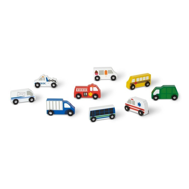 cheap Melissa & Doug Wooden Town Vehicles Set competitive reasonable