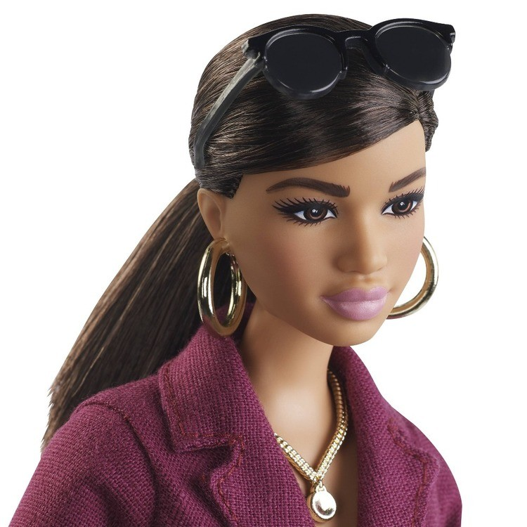 cheap Barbie Signature Styled By Chriselle Lim Collector Doll in Burgundy Trench Dress reasonable competitive