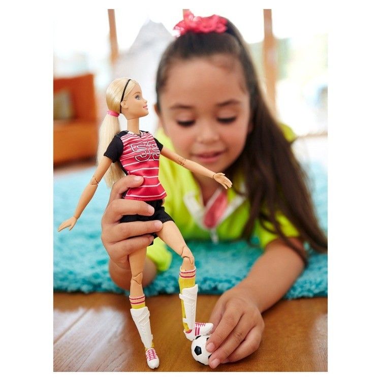cheap Barbie Made To Move Soccer Player Doll reasonable competitive
