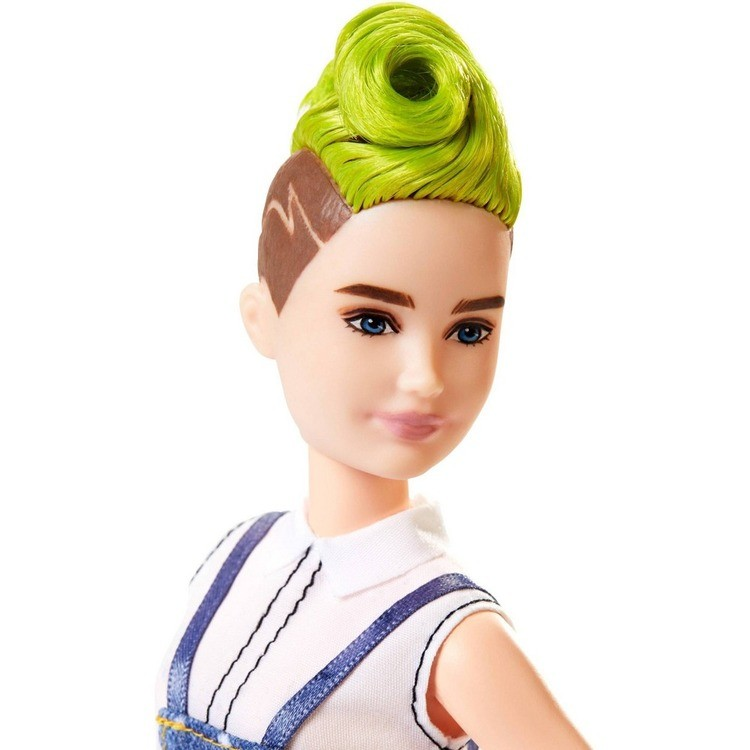 reasonable Barbie Fashionistas Doll #124 Green Mohawk cheap competitive
