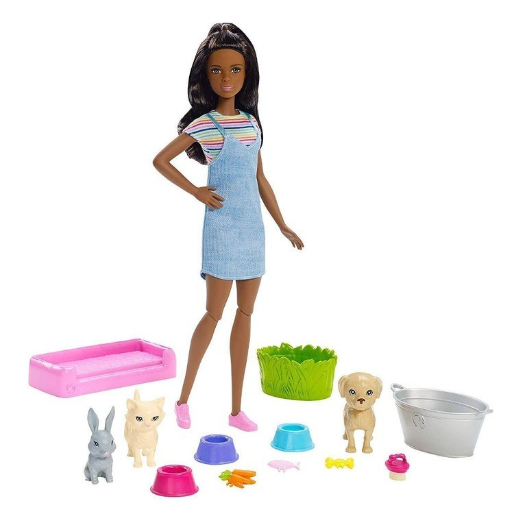 cheap Barbie Play 'n' Wash Pets Nikki Doll and Playset competitive reasonable