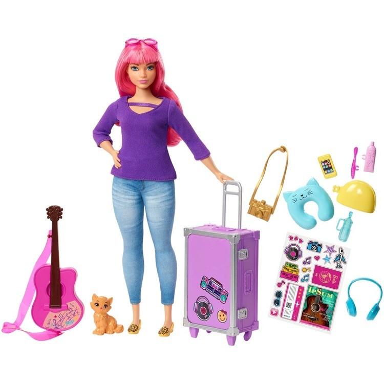 competitive Barbie Daisy Travel Doll & Kitten Playset cheap reasonable
