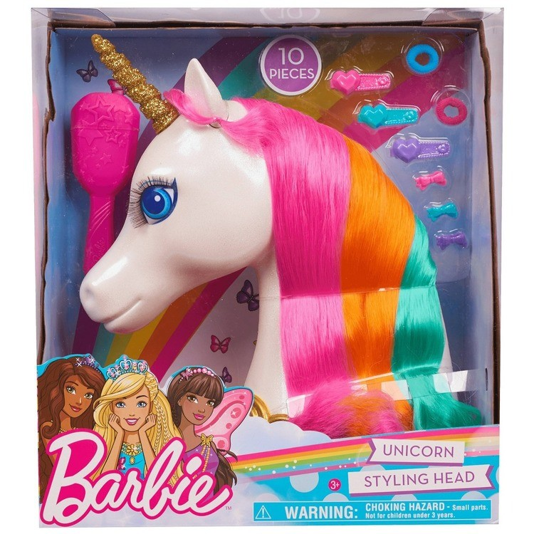cheap Barbie Dreamtopia Unicorn Styling Head 10pcs competitive reasonable