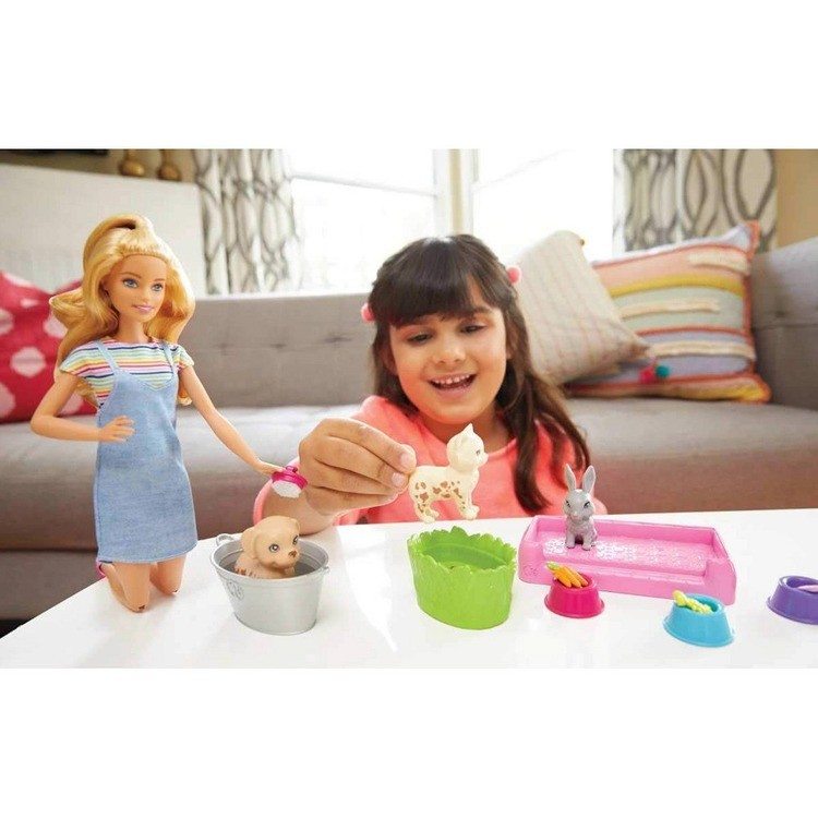 reasonable Barbie Play 'n' Wash Pets Doll and Playset cheap competitive