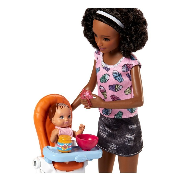 competitive Barbie Skipper Babysitters Inc. Doll and Feeding Playset - Brunette cheap reasonable