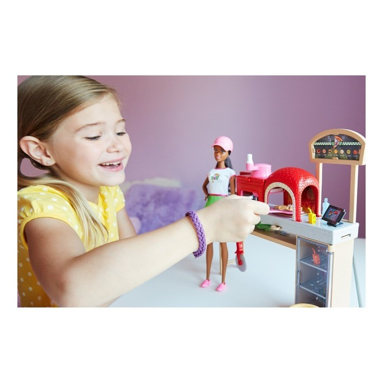 cheap Barbie Careers Pizza Chef Nikki Doll and Playset reasonable competitive