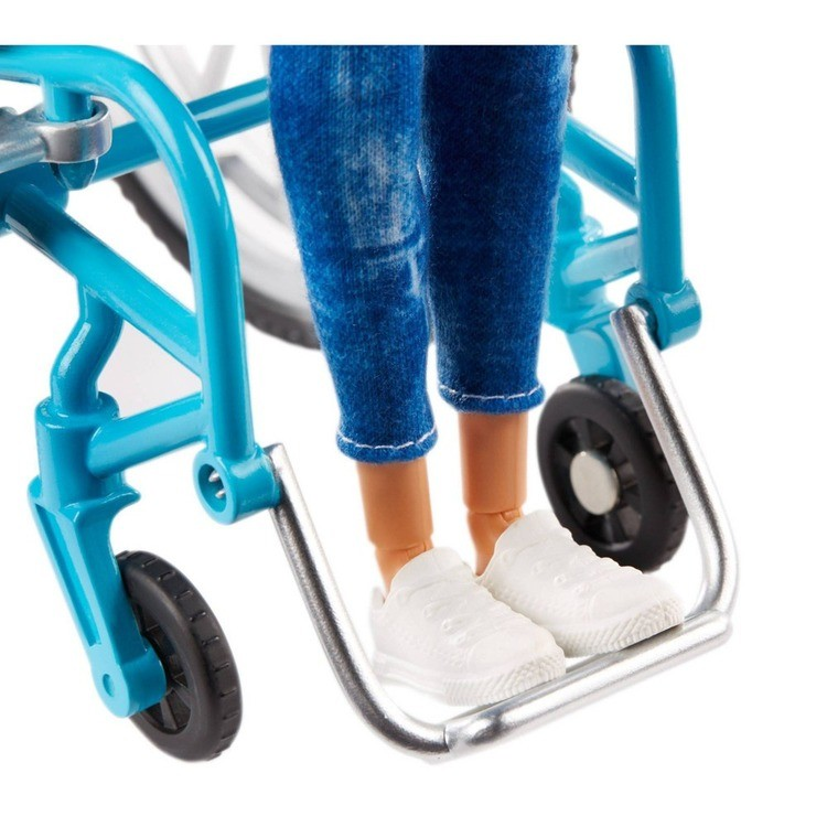 reasonable Barbie Fashionistas Doll #132 Blonde with Rolling Wheelchair and Ramp cheap competitive