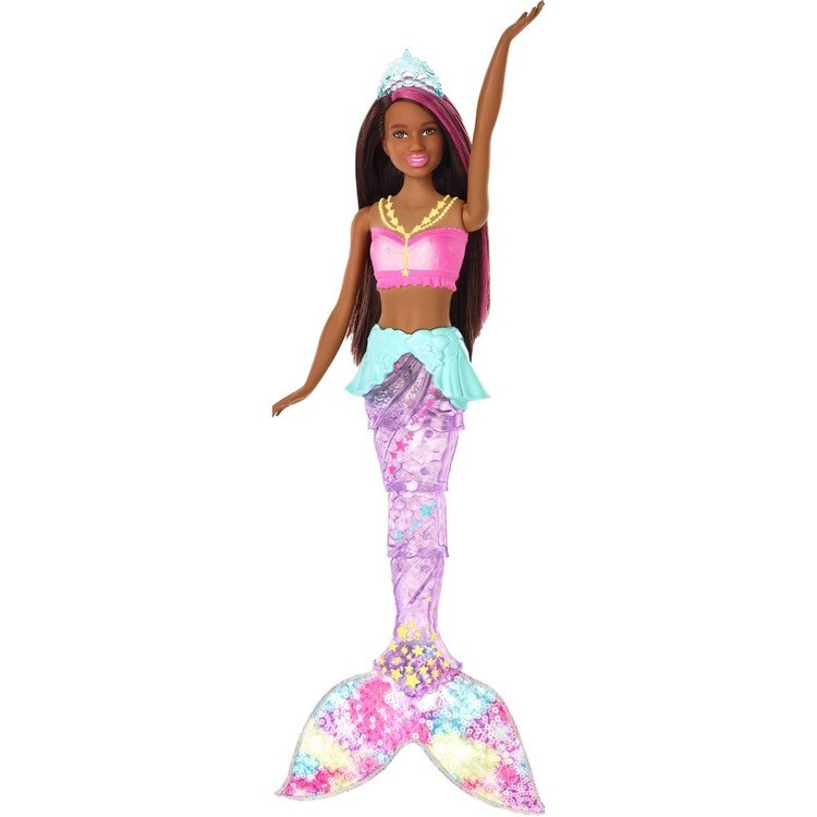 reasonable Barbie Dreamtopia Sparkle Lights Mermaid - Brunette competitive cheap