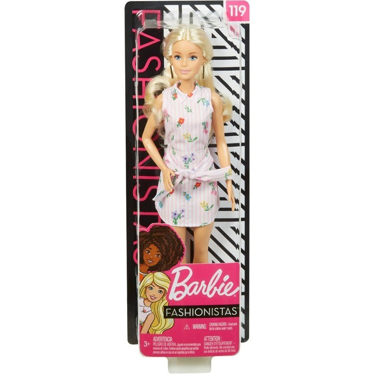 reasonable Barbie Fashionistas Doll #119 Pink Shirt Dress cheap competitive