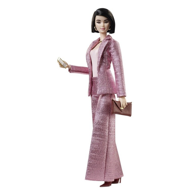 cheap Barbie Signature Styled By Chriselle Lim Collector Doll in in Pink Pant Suit competitive reasonable