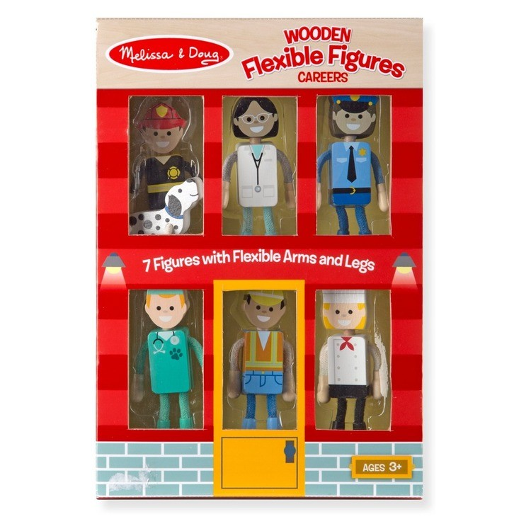competitive Melissa & Doug Wooden Flexible Figures - Careers reasonable cheap