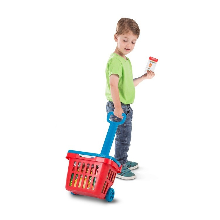 competitive Melissa & Doug Fill & Roll Grocery Basket Playset reasonable cheap