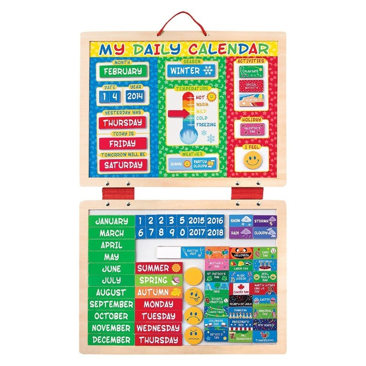 cheap Melissa & Doug My First Daily Magnetic Calendar reasonable competitive