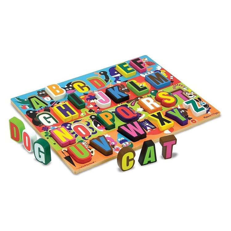cheap Melissa & Doug Jumbo ABC Wooden Chunky Puzzle (26pc) competitive reasonable