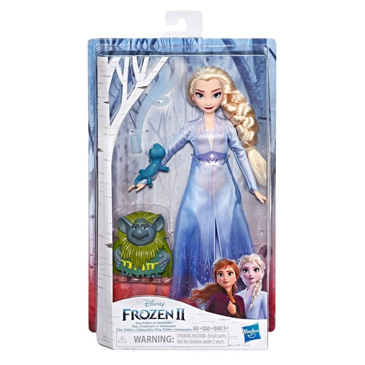 reasonable Disney Frozen 2 Elsa Fashion Doll In Travel Outfit With Pabbie and Salamander Figures cheap competitive