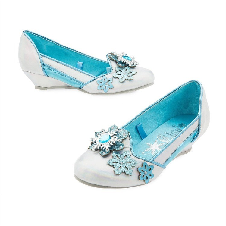 competitive Disney Frozen 2 Elsa Kids' Dress-Up Shoes - Size 13-1, Blue reasonable cheap