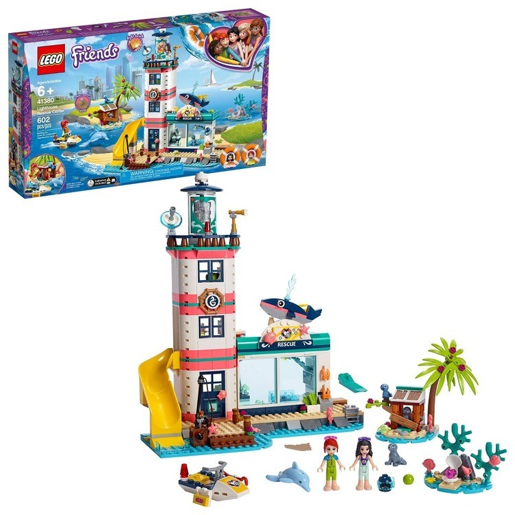 cheap LEGO Friends Lighthouse Rescue Center 41380 Building Kit with Mini Dolls and Toy Animals 602pc reasonable competitive