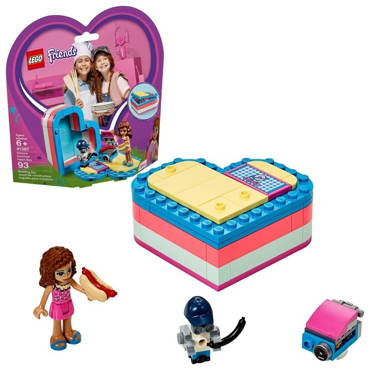 cheap LEGO Friends Olivia's Summer Heart Box 41387 Portable Toy Mini Doll 93pc reasonable competitive