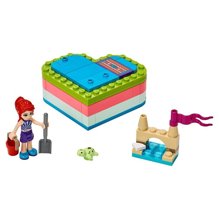 reasonable LEGO Friends Mia's Summer Heart Box 41388 Building Kit with Turtle Figure and Mia Mini Doll 85pc cheap competitive