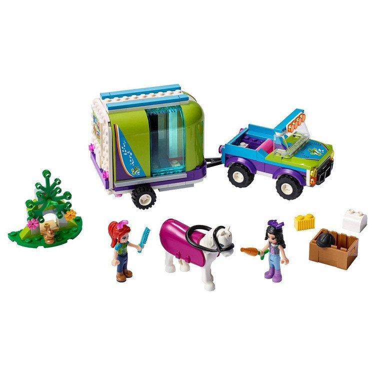 competitive LEGO Friends Mia's Horse Trailer 41371 Building Kit with Mia and Stephanie Mini Dolls 216pc reasonable cheap