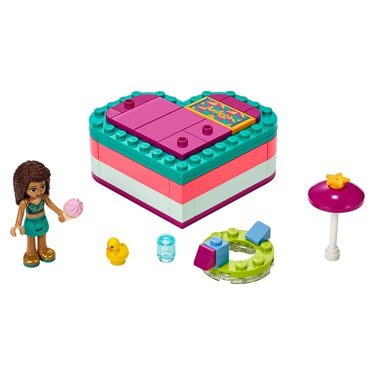 competitive LEGO Friends Andrea's Summer Heart Box 41384 Heart Box Building Set with Andrea Mini Doll Playset 83pc cheap reasonable