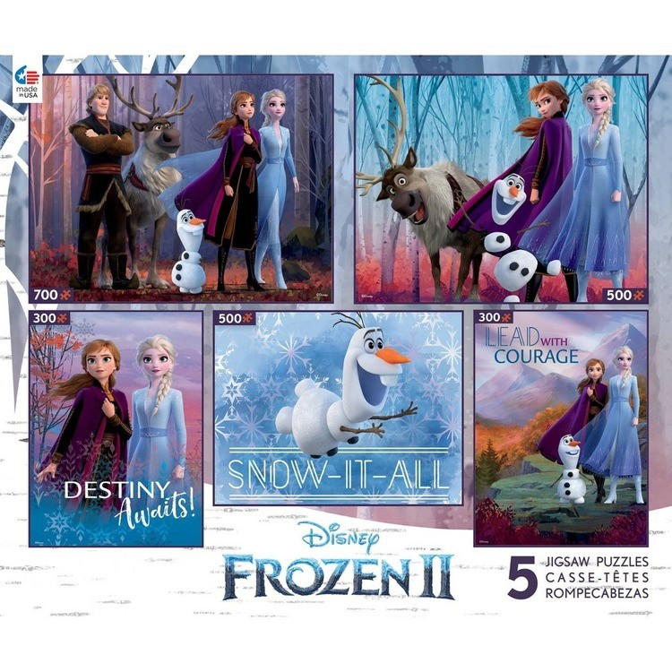 competitive Ceaco Disney Frozen 2 5pk Puzzles 2300pc, Adult Unisex cheap reasonable