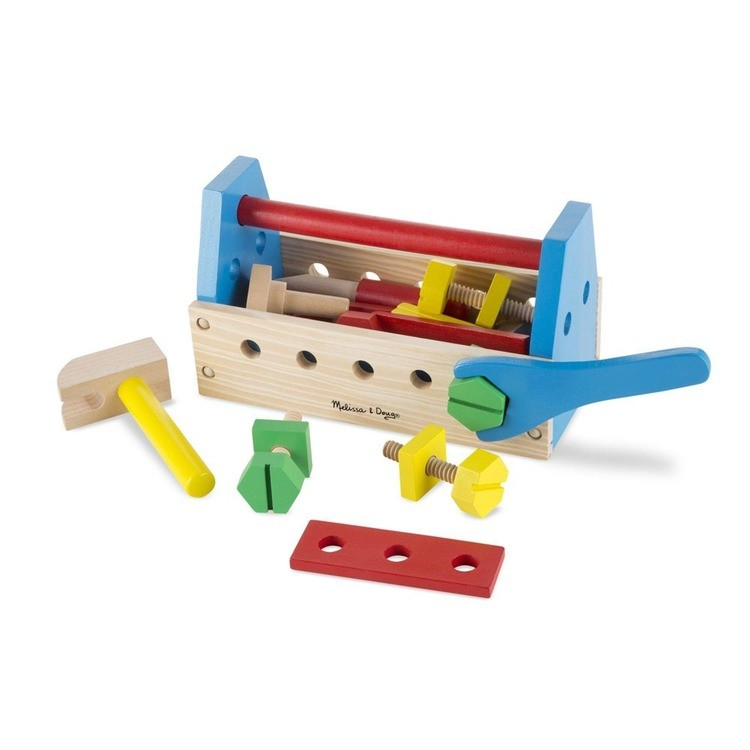 cheap Melissa & Doug Take-Along Tool Kit Wooden Construction Toy (24pc) reasonable competitive