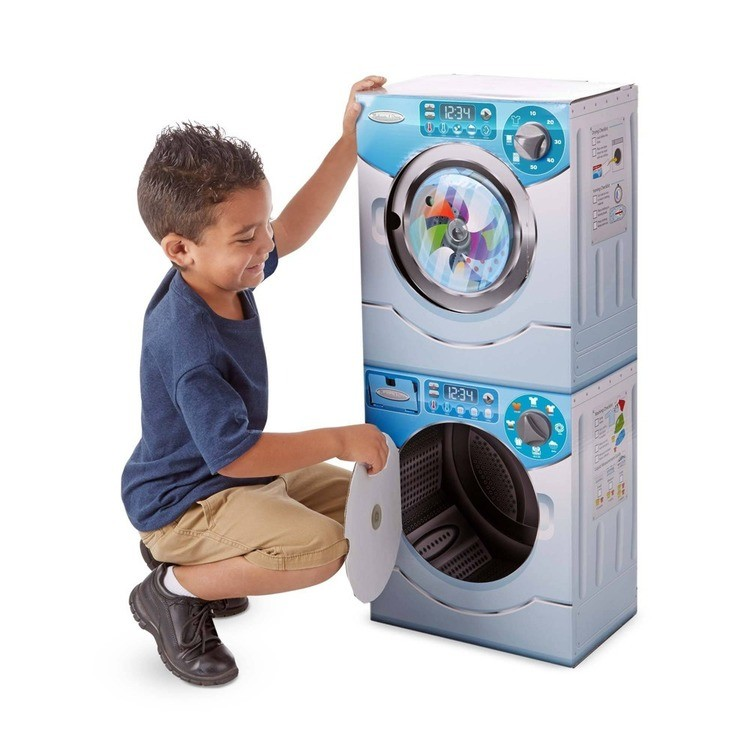 competitive Melissa & Doug Washer/Dryer Combo Cardboard Play Set reasonable cheap
