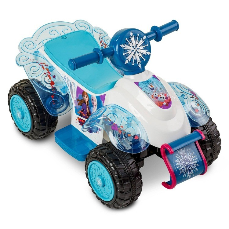 reasonable Frozen 2 Kid Trax Sing and Ride Toddler 6V Quad - White competitive cheap