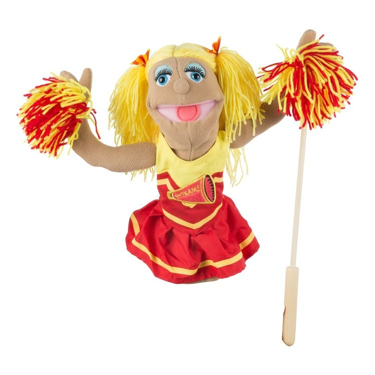competitive Melissa & Doug Cheerleader Puppet With Detachable Wooden Rod cheap reasonable