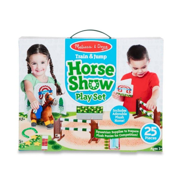 cheap Melissa & Doug Horse Show Equestrian Playset 25pc reasonable competitive