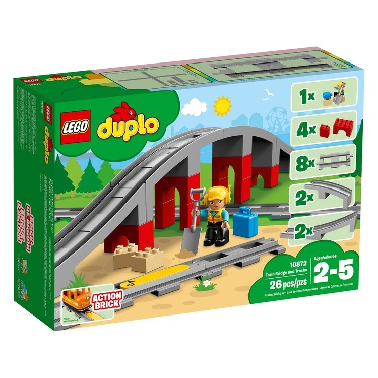 cheap LEGO DUPLO Town Train Bridge and Tracks 10872 competitive reasonable