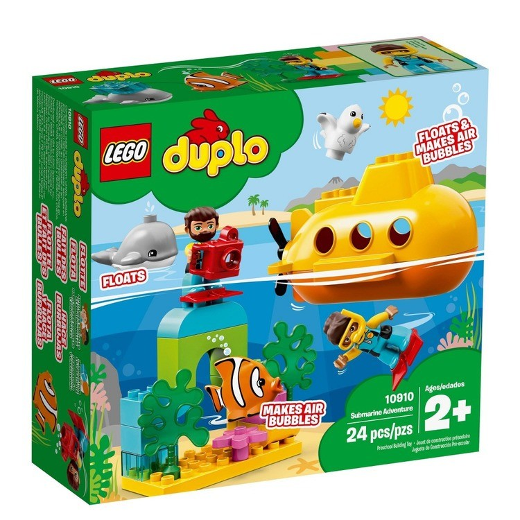 reasonable LEGO DUPLO Submarine Adventure 10910 Bath Toy Building Set for Toddlers with Toy Submarine 24pc cheap competitive