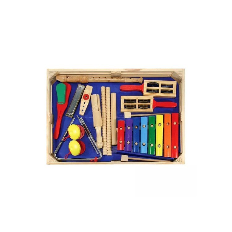reasonable Melissa & Doug Deluxe Band Set With Wooden Musical Instruments and Storage Case cheap competitive