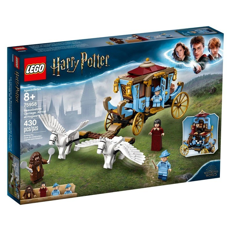 competitive LEGO Harry Potter Beauxbatons' Carriage: Arrival at Hogwarts 75958 Toy Carriage Building Set 430pc reasonable cheap