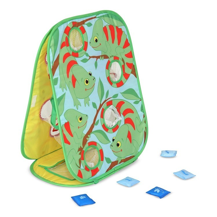 cheap Melissa & Doug Sunny Patch Verdie Chameleon Double-Sided Bean Bag Toss Game With 8 Bean Bags, Kids Unisex competitive reasonable