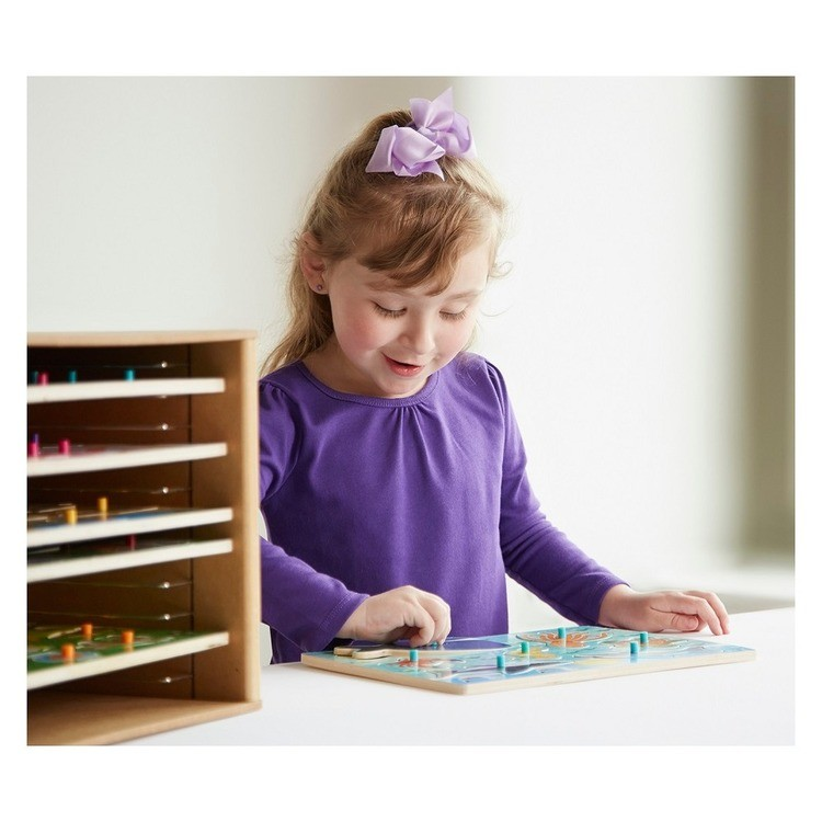 reasonable Melissa & Doug Natural Wood Puzzle Storage Case (Holds 12 Puzzles) competitive cheap