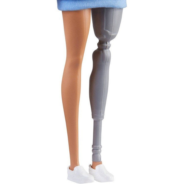 competitive Barbie Fashionistas Doll #121 Brunette Hair and Prosthetic Leg reasonable cheap