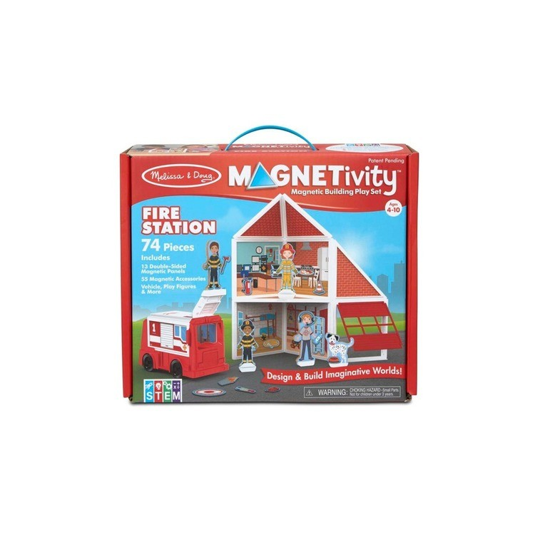 cheap Melissa & Doug Magnetivity - Fire Station competitive reasonable