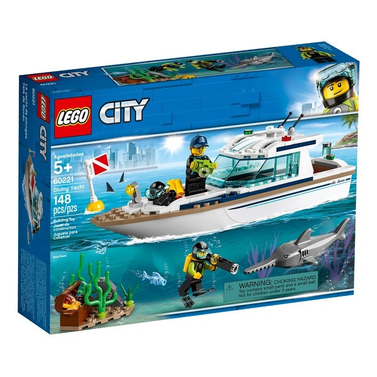 cheap LEGO City Diving Yacht 60221 competitive reasonable